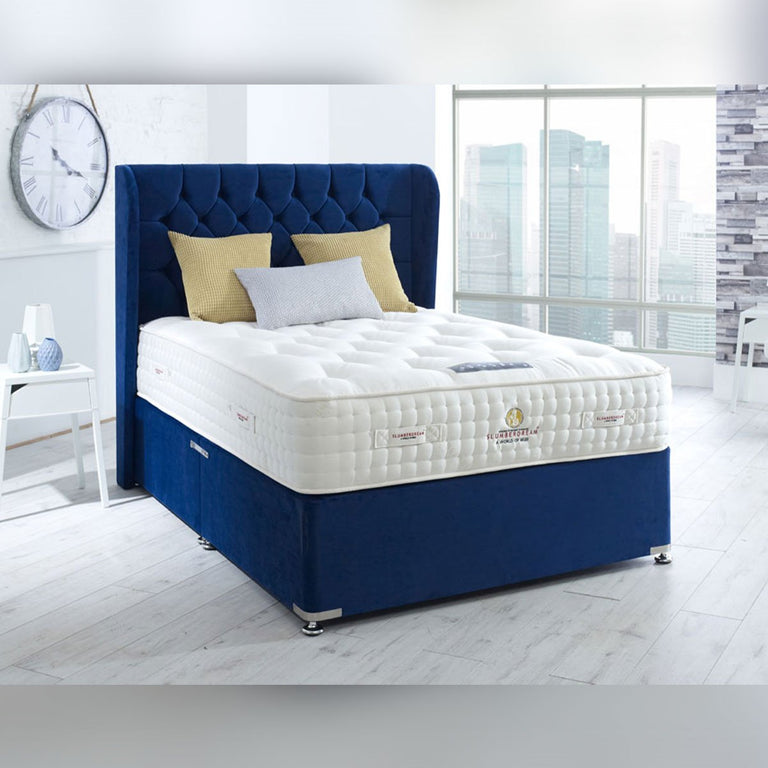 Empire Natural 12000 Pocket Springs Divan Bed Firm 30cm Deep Mattress