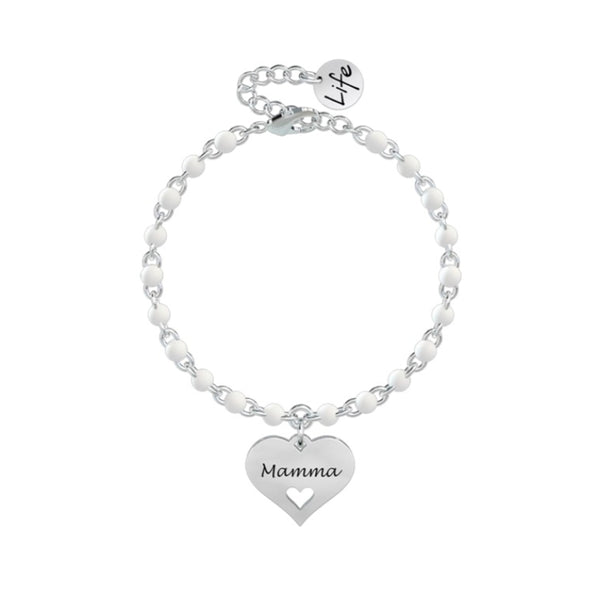 Bracciale Donna Con charms/beads in Acciaio KIDULT Colore Bianco 731840 Variante 1