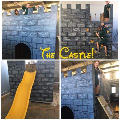 The Castle fort with Kiwiplay slide and accessories