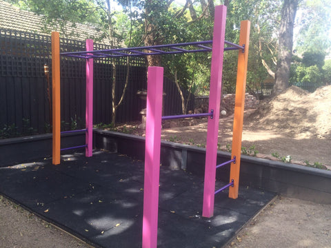 Monkey bars and spin bars