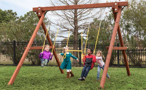 Swooping 3 position Swing set