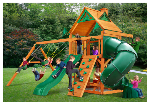 The Morepork - Playground set with 1.5m deck with Tube slide