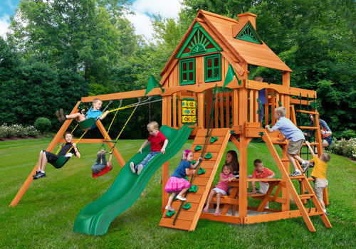 The Kakapo - Playground set with 1.5m deck with Monkey Bars