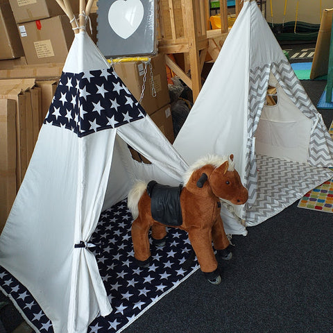 Natural Heavy duty cotton canvas Teepee