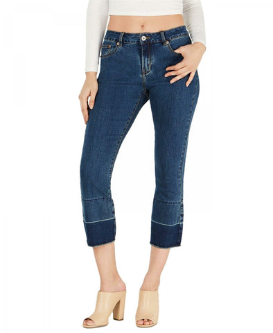 HUE Womens Cropped Flare Release Hem Denim Skimmer Leggings. U20760H