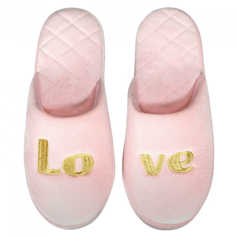 INC International Concepts Women's Love Velour Scuff Slippers