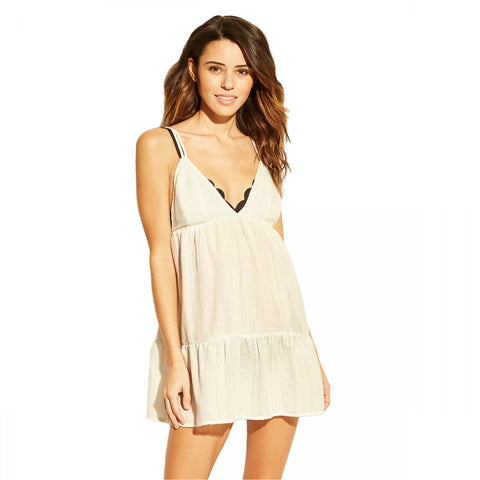 Xhilaration Women's Embroidered Cover Up Dress
