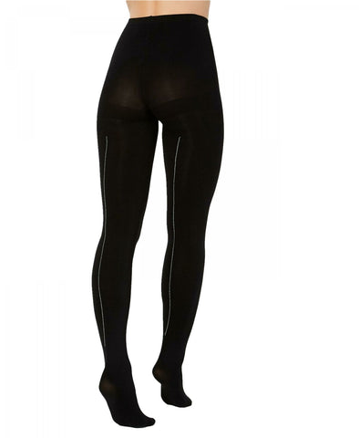 HUE Women's Rhinestone-Studded Back Seam Tights. U20105