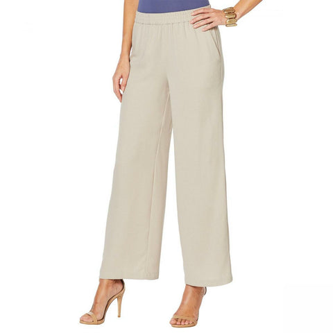 MarlaWynne WynneLayers Women's Crepe Pull On Pants