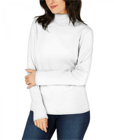 Karen Scott Women's Long-Sleeve Cotton Turtleneck Shirt. 100020281MS