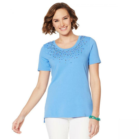 Lemon Way Women's Beaded Short-Sleeve T-Shirt