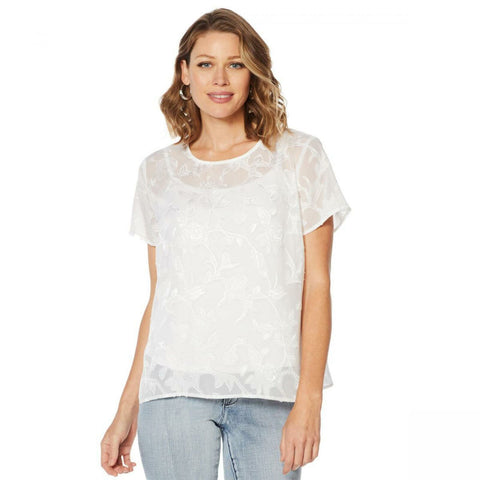 G by Giuliana Women's Woven Blouse With Cami