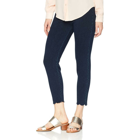 Lysse Women's Scallop Hem Denim Leggings