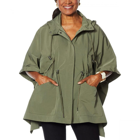 WynneLayers Women's Spring Poncho Jacket With Hood