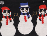 Well Worn Women's Chillin with my Snowmies Snowman Ugly Christmas Sweater
