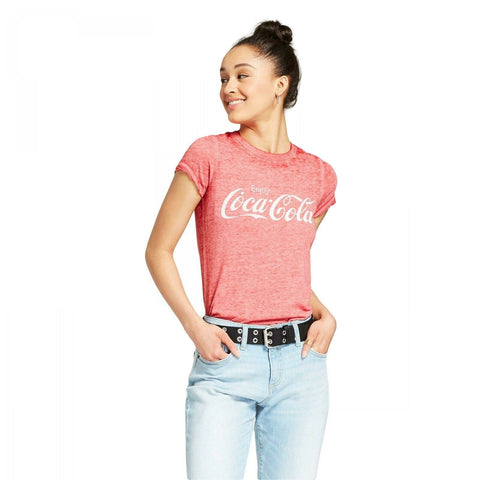 Hybrid Tees Women's Coca-Cola Short Sleeve Graphic T-Shirt