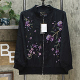 DG2 by Diane Gilman Women's Embroidered Trophy Bomber Jacket