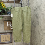 A New Day Women's High Rise Ankle Length Linen Taper Pants