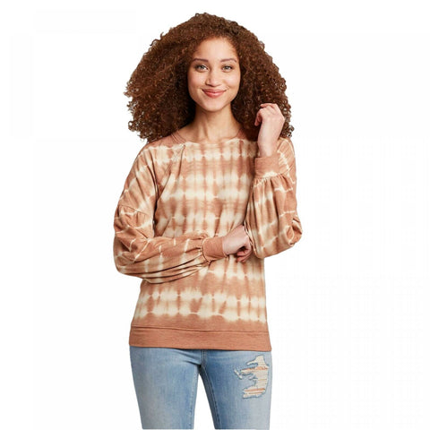 Knox Rose Women's Balloon Long Sleeve Scoop Neck Blouse