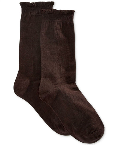 HUE Women's Solid Femme Top Sock. U14708