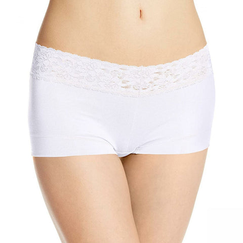 Maidenform Women's Cotton Dream Lace Boyshort Panties