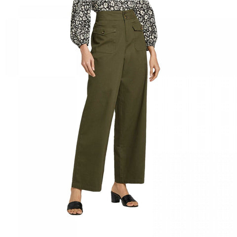 Who What Wear Women's Mid Rise Relaxed Trousers