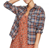 Wild Fable Women's Long Sleeve Button-Down Plaid Flannel Shirt