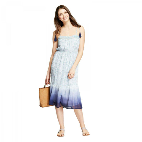 Knox Rose Women's Dip Dye Print Sleeveless Sundress Sun Dress