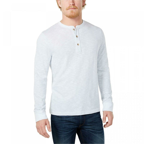 Club Room Men's Striped Speckled Stripes Henley Shirt