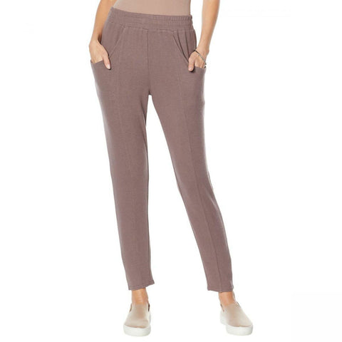 Modern Soul Women's Plus Size Brushed Soft Touch Hacci Slouchy Pants