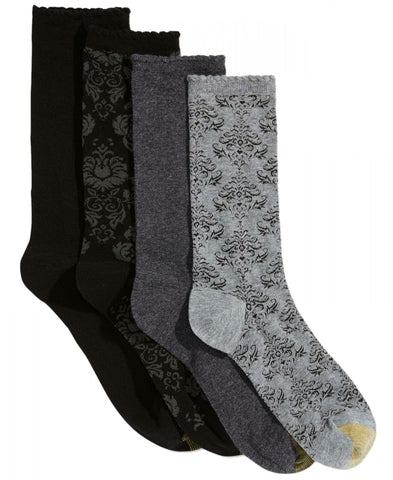 Gold Toe Women's 4-Pk. Women's Damask Crew Socks. 5976F