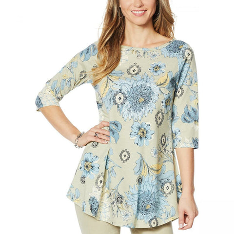 DG2 by Diane Gilman Women's Printed Swing Top