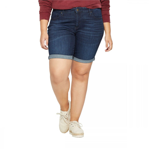 Universal Thread Women's Plus Size Roll Cuff Bermuda Jean Shorts