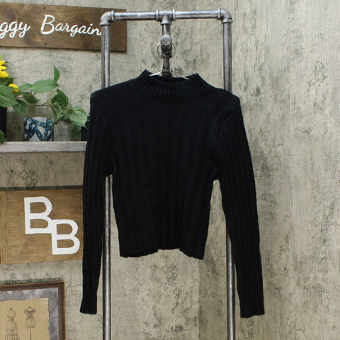 Wild Fable Womens Long Sleeve Pullover Sweater Black Small