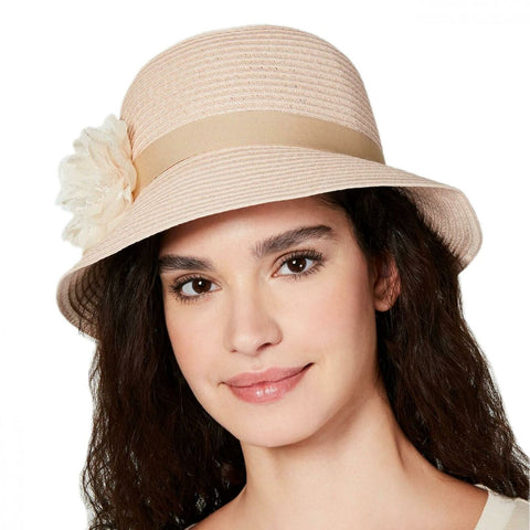 August Hats Women's Lace Flower Cloche Hat