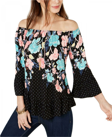 Style & Co. Women's Petite Convertible Printed Top Shirt. 100053294PT