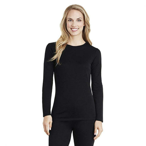 Cuddl Duds Women's Fleecewear Long Sleeve Crew Stretch Top. CD8420865