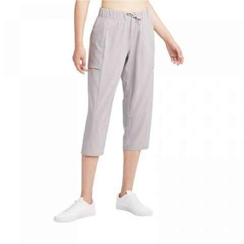 All In Motion Women's Mid-Rise Stretch Woven Tapered Leg Capri Pants
