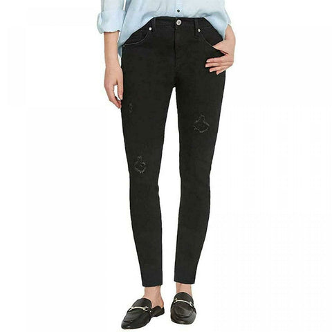 Buffalo Jess Rip And Repair Mid Rise Skinny Jeans