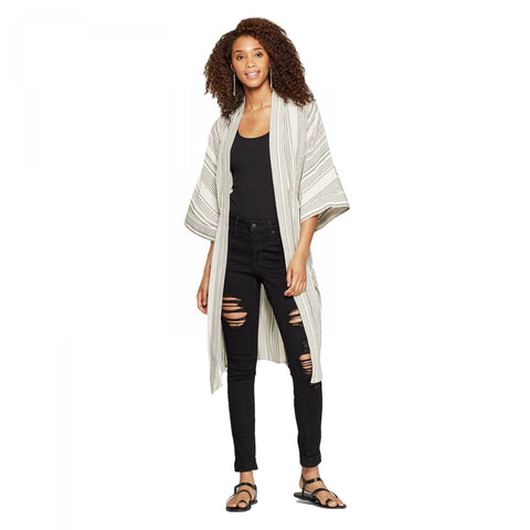 Universal Thread Women's Belted Striped Kimono