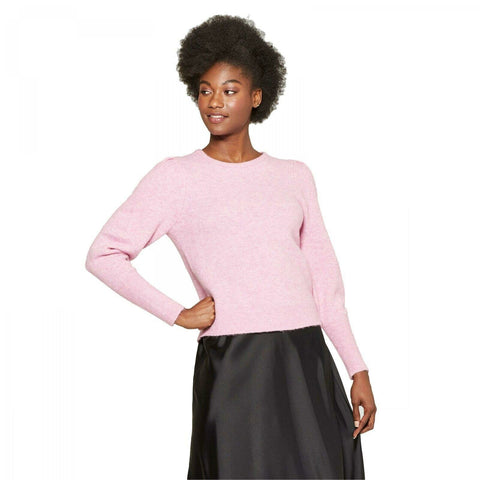 A New Day Women's Pleat Sleeve Pullover Sweater
