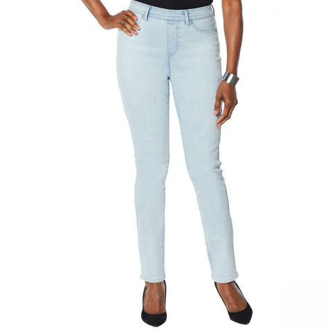 DG2 by Diane Gilman Women's Sorbet Denim Pull On Skinny Jeans