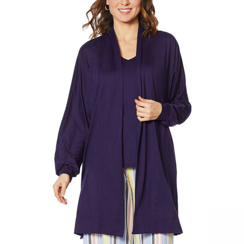 Comfort Code By Cuddl Duds Women's Long Sleeve Jersey Knit Cardigan