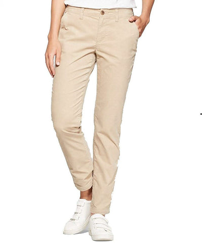 A New Day Women's Stretch Mid Rise Slim Corduroy Pants