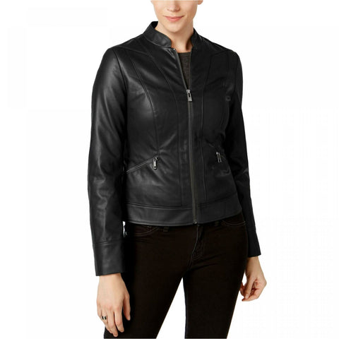 INC International Concepts Faux Leather Moto Jacket