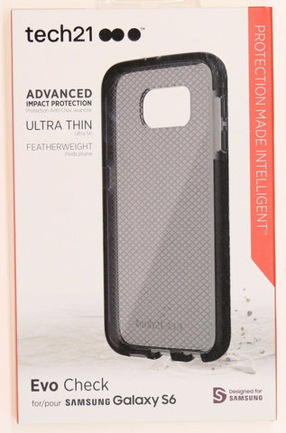 Tech21 Evo Check FlexShock Slip Cover Case Samsung Galaxy S6 - Smokey Black