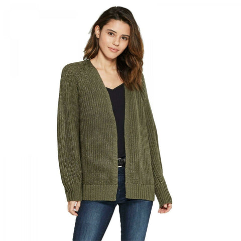 Universal Thread Women's Long Sleeve Relaxed Open Layering Cardigan Sweater