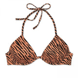 Shade & Shore Women's Tiger Lightly Lined Triangle Bikini Top