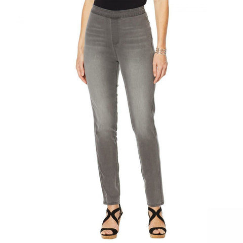 DG2 by Diane Gilman Women's Petite Up Lifter Pull On Skinny Jeans