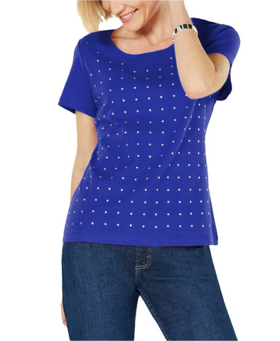 Karen Scott Women's Petite Cotton Star-Stud Top Shirt. 100049810PT